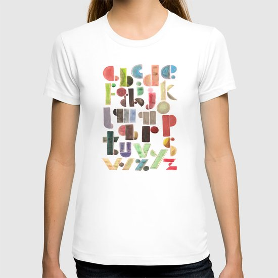 The Alphabet - by Genu WORDISIAC™ TYPOGY™ T-shirt