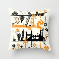 Us & Them Throw Pillow