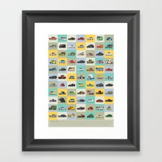 Star Cars Framed Art Print