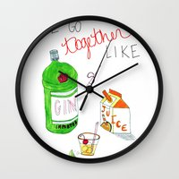 Gin & Juice Wall Clock