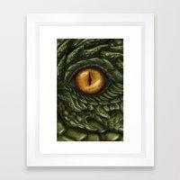 the green dragon Framed Art Print