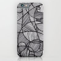 iPhone & iPod Case featuring Black & White Abstract by Nur Simsek