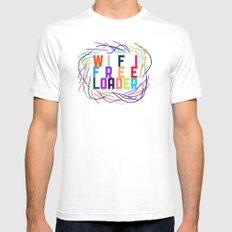 WIFI FREELOADER White SMALL Mens Fitted Tee