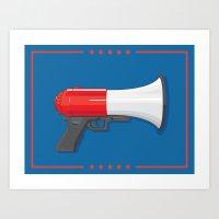 Chump Gun Art Print