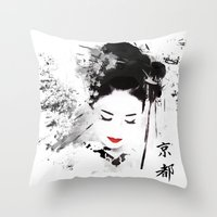 Kyoto Geisha Throw Pillow