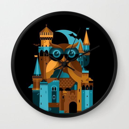 Owl Castle Wall Clock