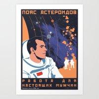 Asteroid Belt Art Print