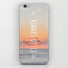 HELLO SUMMER iPhone & iPod Skin
