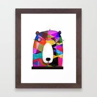 BEAR SPECTACLES Framed Art Print