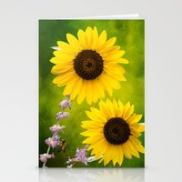 Sunflowers.  Stationery Cards