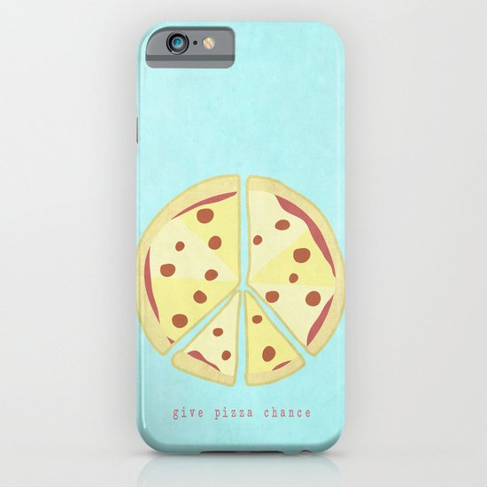 Give Pizza Chance iPhone & iPod Case