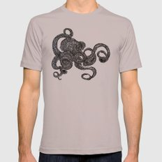 Barnacle Octopus Mens Fitted Tee Cinder SMALL