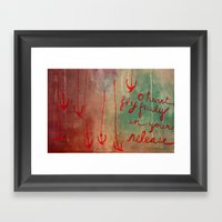 O Heart Framed Art Print