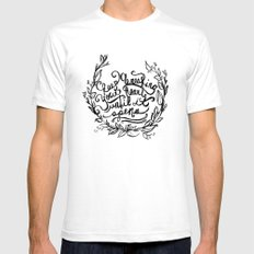 Breaking White SMALL Mens Fitted Tee