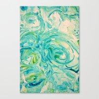 Marbling Twirl Canvas Print
