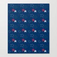 Red White & Blue Stars Canvas Print