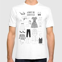 A Bout De Souffle Mens Fitted Tee White SMALL