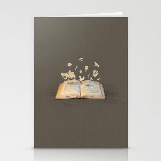 Words Take Flight (on Grey) Stationery Card