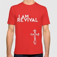 I Am Revival Mens Fitted Tee Red SMALL