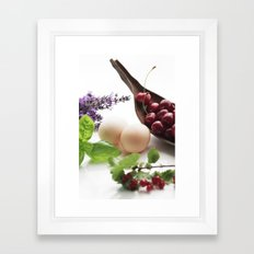 Fresh From The Farm And … Framed Art Print