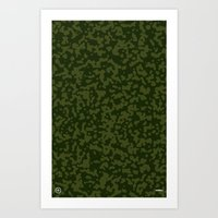 Comp Camouflage / Green Art Print