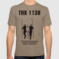 THX 1138 Movie Poster Mens Fitted Tee Tri-Coffee SMALL