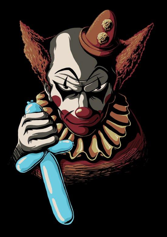Clowns are Evil Art Print