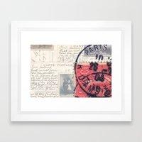Postale Paris Framed Art Print