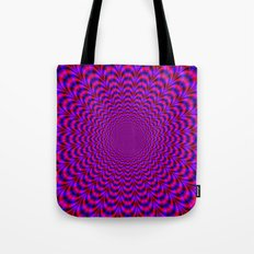 Pulse in Red and Blue Tote Bag