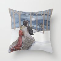 The Crane Wife Throw Pillow