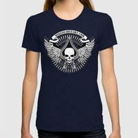 Love/War Womens Fitted Tee Navy SMALL