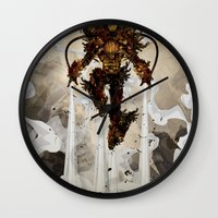 Steamy Iron Wall Clock