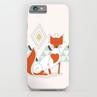iPhone & iPod Case featuring Fox in the mountain by Crea Bisontine
