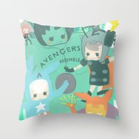Avengers Assemble. Throw Pillow