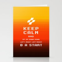 keep calm konami. Stationery Cards