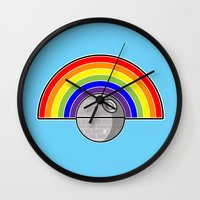 Death Star Rainbow Wall Clock
