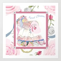 Baby Sarah sweet dreams Art Print