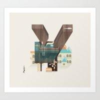 Resort type - Letter Y Art Print