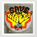 Modern Times - Save the whales Art Print