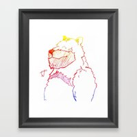 Bear Color Framed Art Print