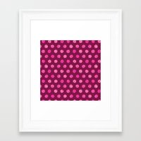 Patterned Dots Framed Art Print