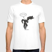Action Hero Mens Fitted Tee White SMALL