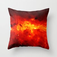 The Painted Space Lava Throw Pillow