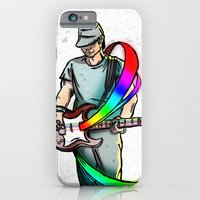 iPhone & iPod Case featuring Guitarist (Colour My World) by Thomas Gomes