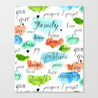Family - Watercolor Canvas Print