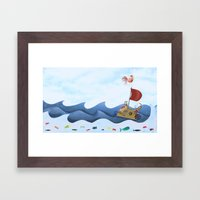 Sea Race Framed Art Print