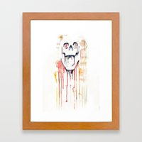 Skull Drips  Framed Art Print