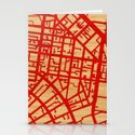 Map of the Town Stationery Cards