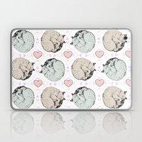 Sleepy Kitty Pattern Laptop & iPad Skin