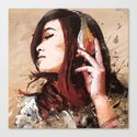 Butterfly Music Canvas Print